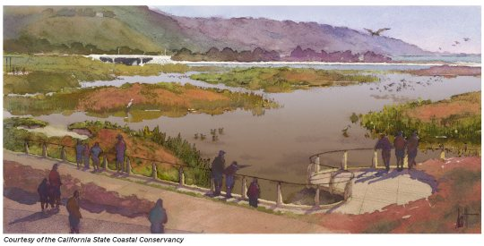 Artist's perspective of west channels view from SW corner (RestoreMalibuLagoon . com)