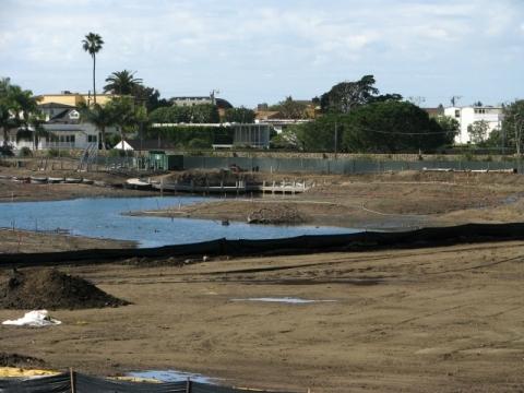Viewing platform & path construction southwest side of channel (L. Johnson 1/27/13)