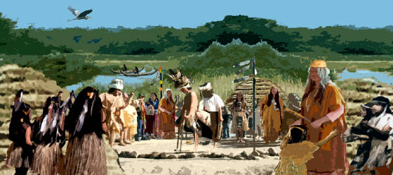 Tongva Village. Source: http://www.keepersofindigenousways.org/id16.html