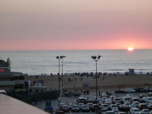 Santa Monica's Winter Solstice Sunset over the ocean (Bob Gurfield 12/21/13)