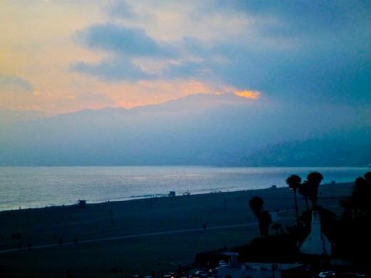 Santa Monica's Summer Solstice Sunset over the Santa Monica Mountains (Bob Gurfield 6/21/14)