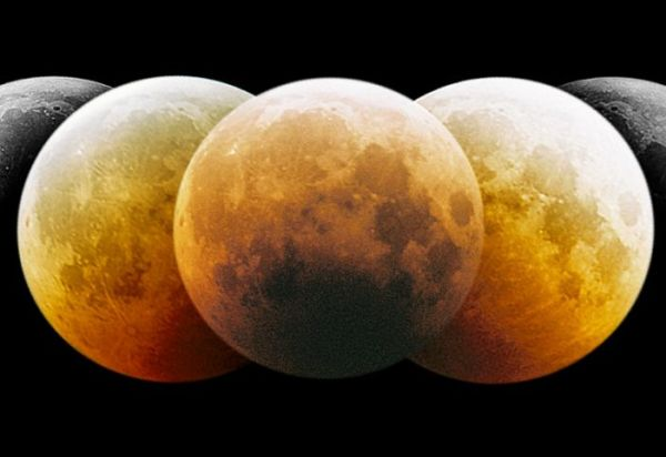 Montage of moon in eclipse (Sebastien Gauthier 5/14/14; NASA website)