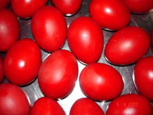 Red Easter Eggs symbolize the blood of JesusWikipedia