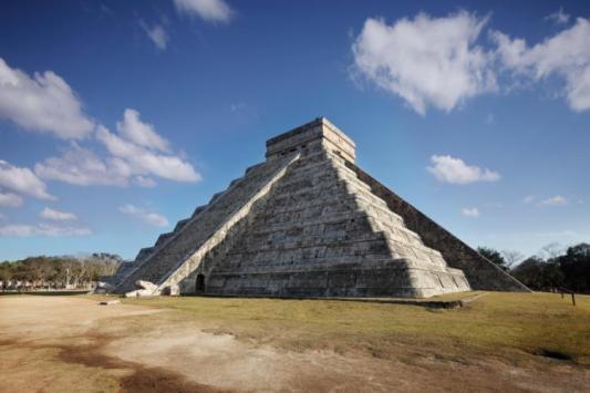 The Snake of SunlightMain pyramid, Chichen Itza, Yucatan, Mexico