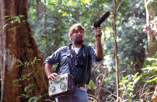 Ted Parker in Guyana(Haroldo Castro, Conservation International - Cornell Labs Website)