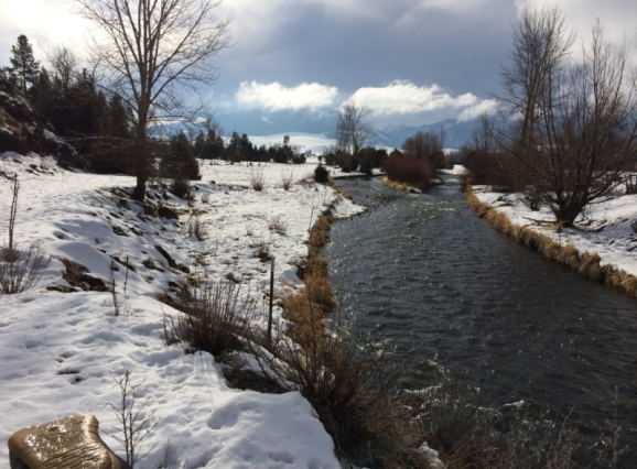 Flowing from the mountains (Diana Roberts, Wallowa Valley Jan'16)