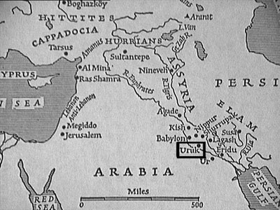 Mesopotamia & location of Uruk, city of Gilgamesh (nkerns.com)