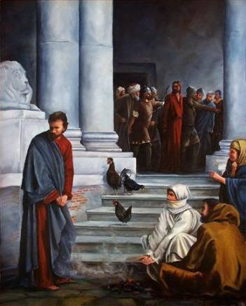Peter, the rooster and Jesus; Copy of Carl Heinrich (ddddd)