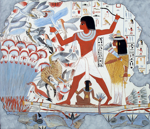 Neb-amun hunting birds in the marshes (Timetrips.com)