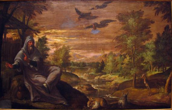 The Prophet Elijah fed by the ravens, Paulwels Frank, 1590 (Alterpersanium.com)