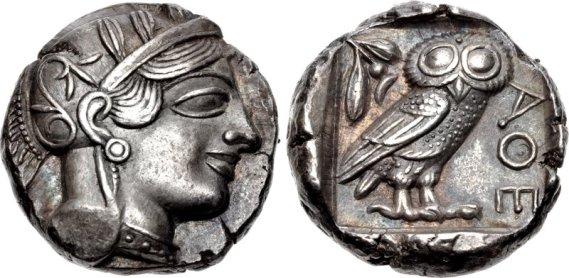 Athenian tetradrachm, 499 BCE (sngcop)