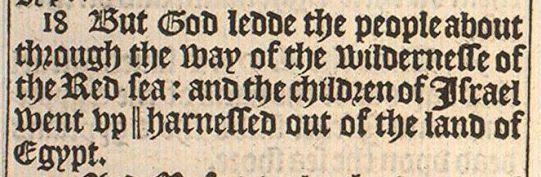 Exodus 13:18, original 1611 King James Version (OriginalBibles pg. 149)