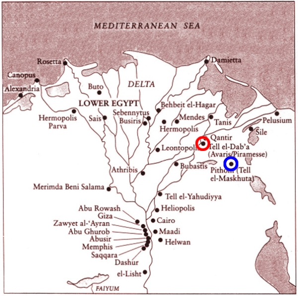 Nile Delta in ancient Egypt